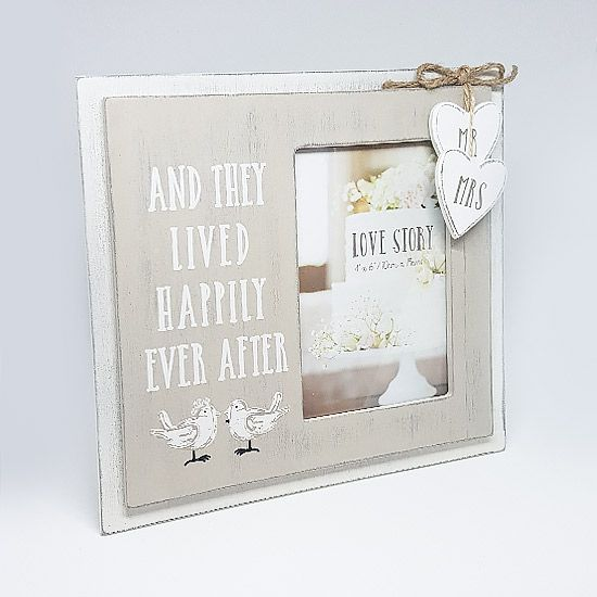Give the gift of an engagement photo frame. This is a Happily Ever ...