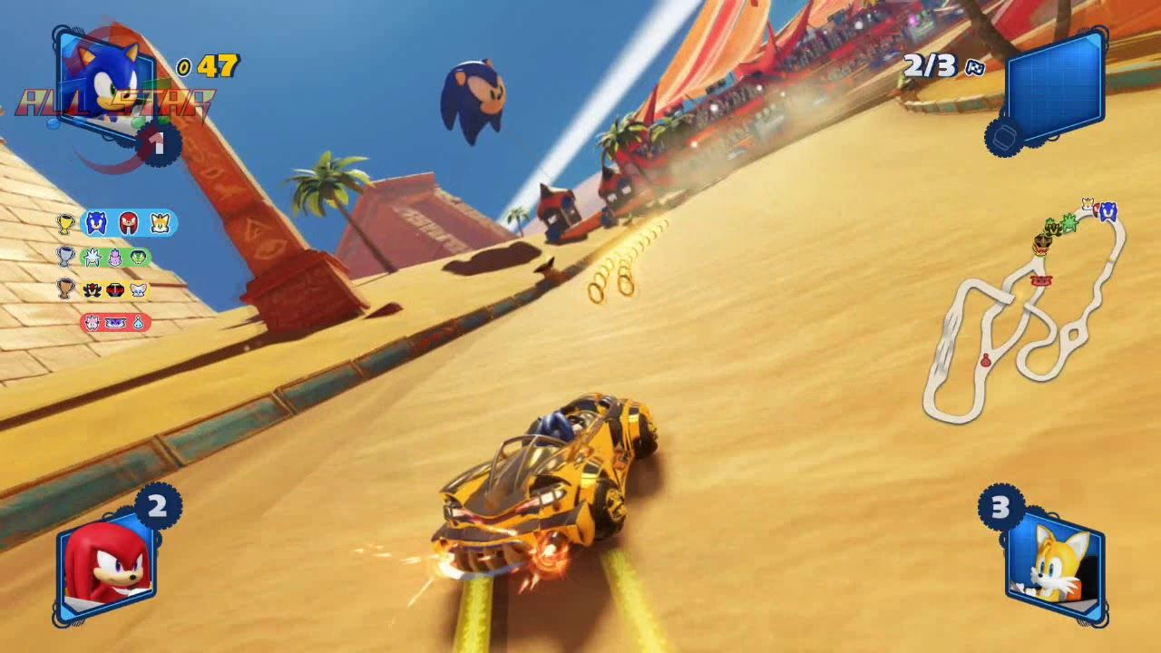 Team Sonic Racing Sand Road Racing Sand Teams