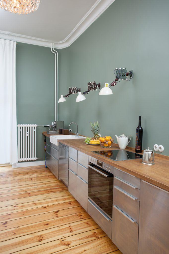 interior designer with images  green kitchen walls
