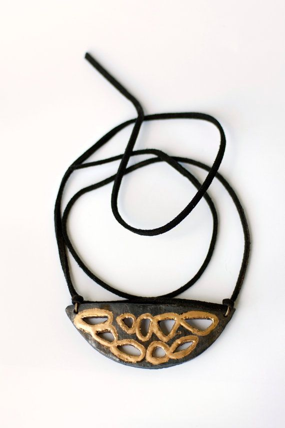 Fireclay necklace