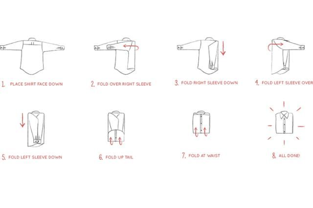 7 Folding Hacks That Save Major Closet and Drawer Space: How to Fold a Dress Shirt