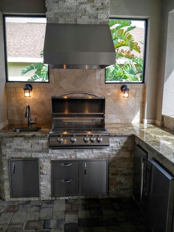 - Outdoor Kitchen Backsplash Small Outdoor Kitchens, Big Green Egg