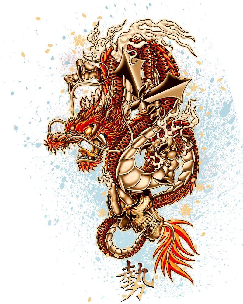 Serie De Tattoo Drag C3 83o Oriental 32 Jpg 799 999 Tatuajes Dragones Dibujos Dragones