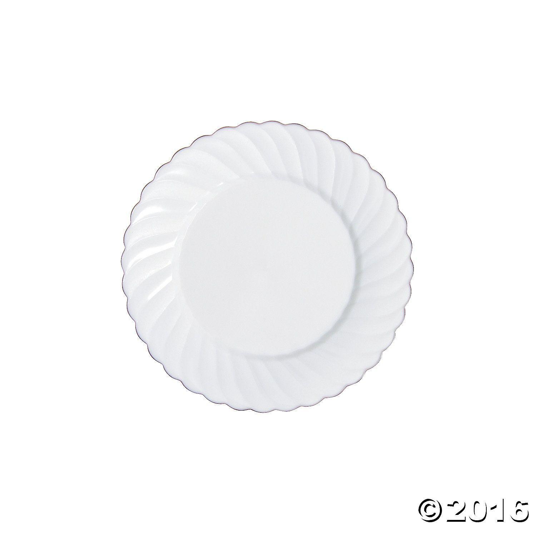 White Premium Plastic Dessert Plates with Rose Gold Edge  sc 1 st  Pinterest & White Premium Plastic Dessert Plates with Rose Gold Edge | Plastic ...
