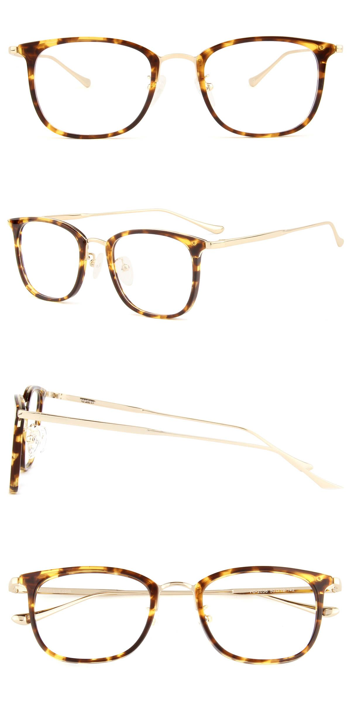 Yc2036 Tortoise With Images Oval Glasses Tortoise Eyeglasses