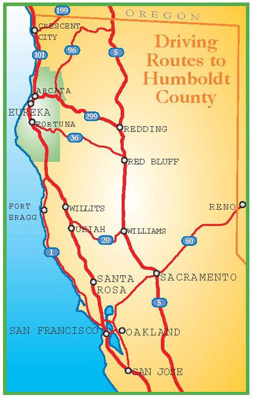 California S Redwood Coast Map Where Is Humboldt County