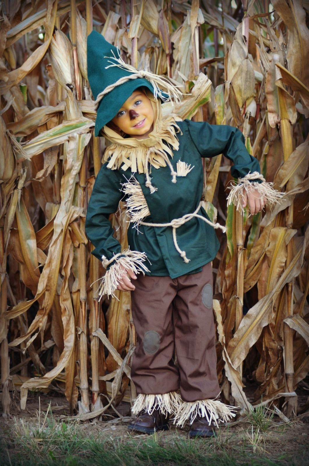 Wizard of Oz HANDMADE Scarecrow costume childrens size 4/5 Award ...