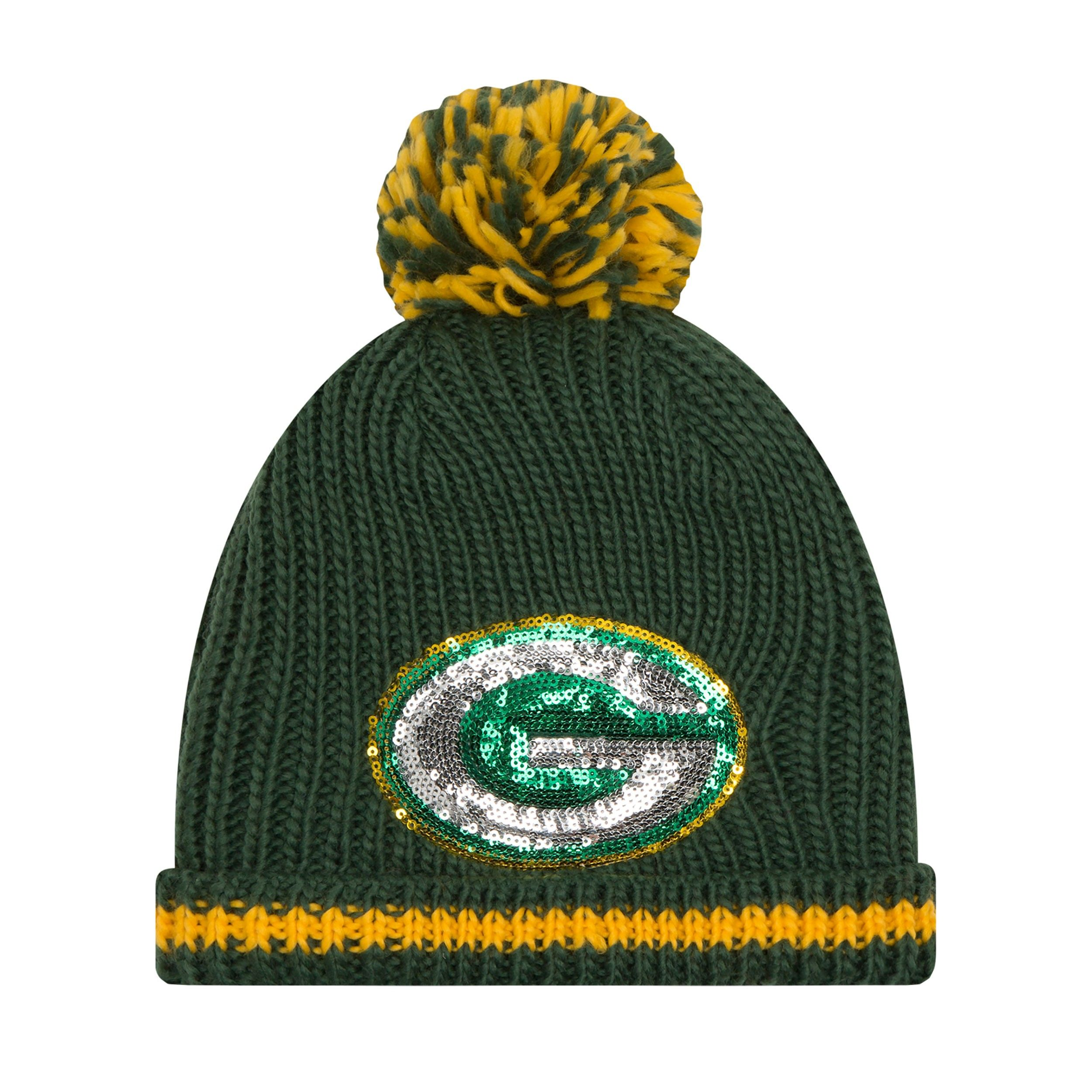 272910af3cb22f Packers Women's Sequin Frost Knit Hat. Packers Women's Sequin Frost Knit  Hat Green Bay ...