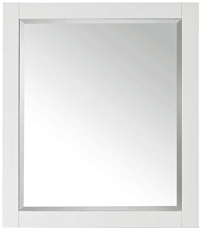 Avanity White 28 Inch X 32 Inch Decorative Vanity Mirror Mirror