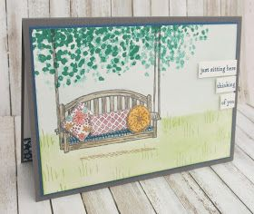 Stampin' Up! UK Demonstrator - Teri Pocock: Sitting Here with Sheltering Tree