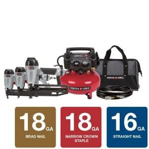 Porter Cable 6 Gal Portable Electric Air Compressor Combo Kit Pc3pak At The Home Depot 498 Electric Air Compressor Combo Kit Air Compressor