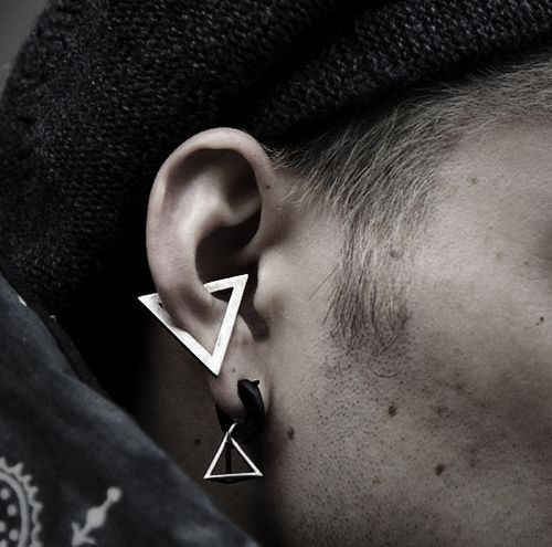 Conch Piercing Male Google Search Holey Faces And Other Places