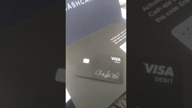 The Cash App Has A Free Black Visa Debit Card Visa debit
