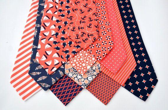 Mens Necktie Fashion Anchor Sailor Wedding Red Black Blue