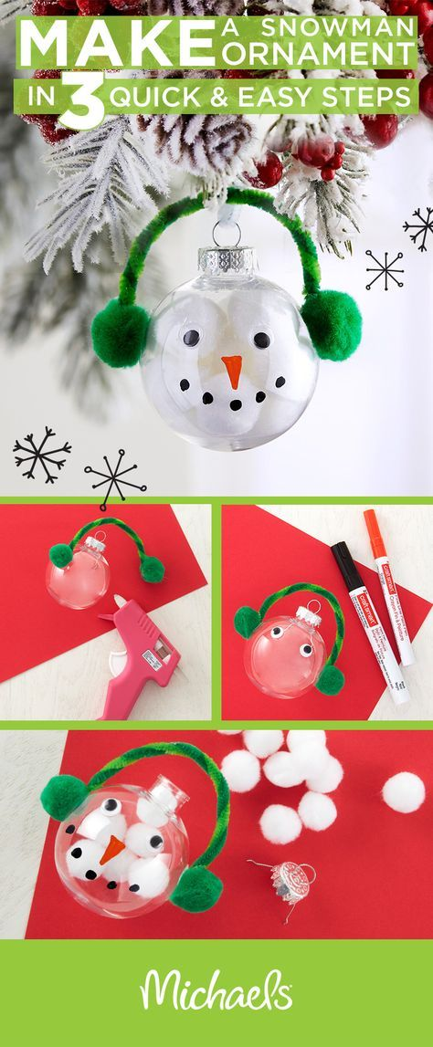 Make a whimsical snowman ornament in 3