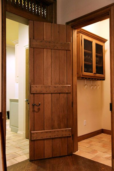 A simple french plank door with an iron rim lock doors with cherry wood from farm planetlyrics Image collections