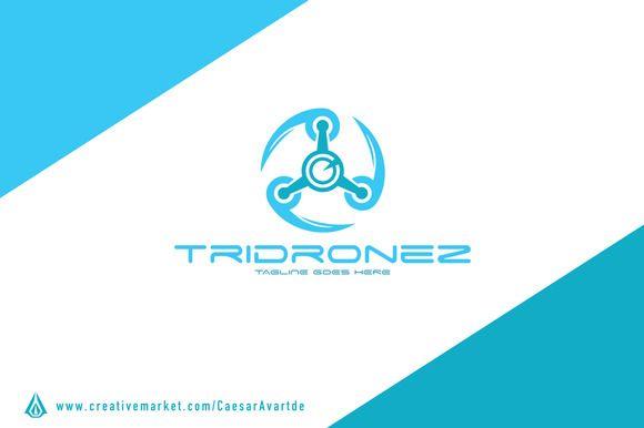 drone logo template by avartde creative on creativemarket. Black Bedroom Furniture Sets. Home Design Ideas