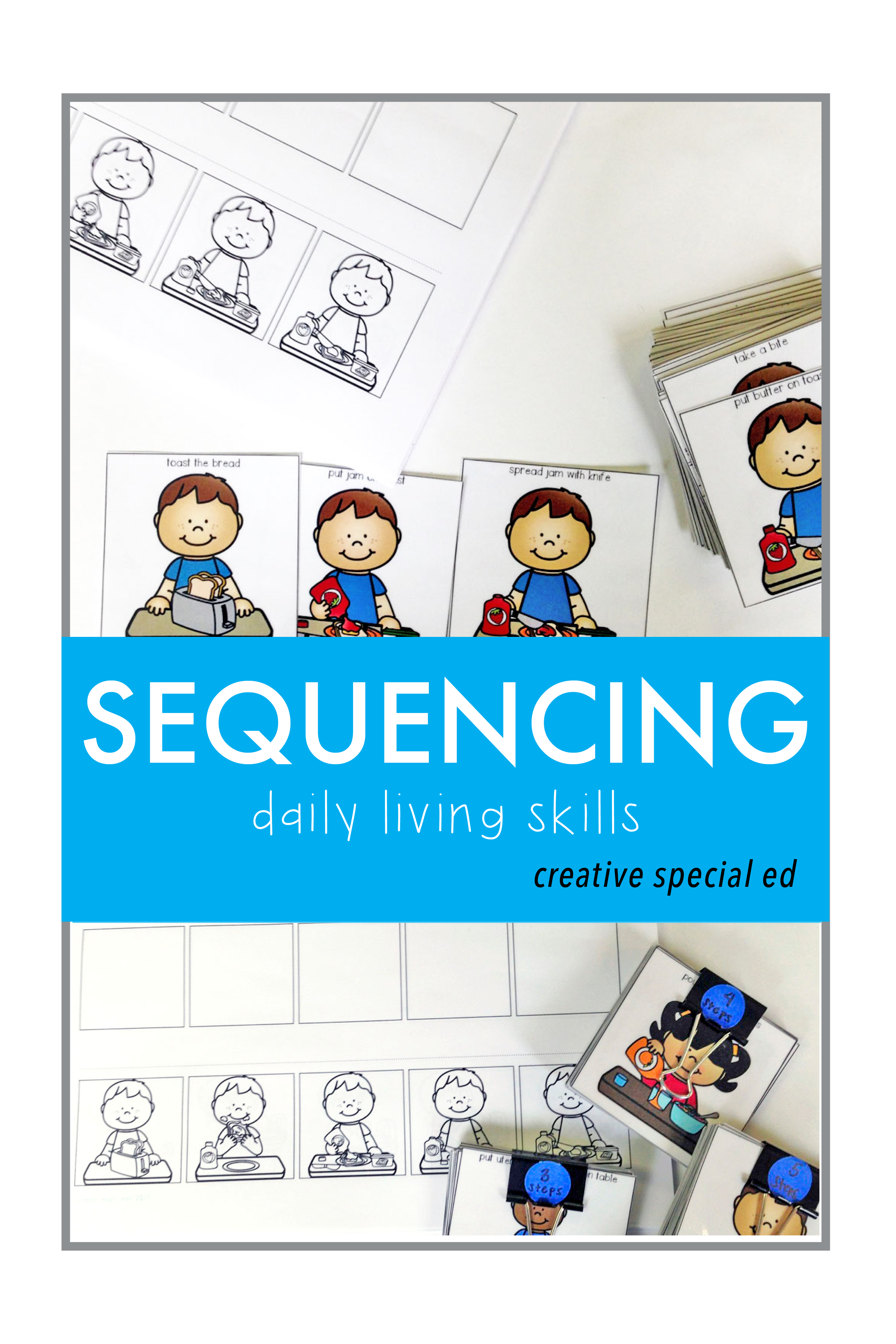 Super Sequencing Activity Bundle Daily Living Skills Sequences Living Skills Sequencing Activities Special Education Classroom