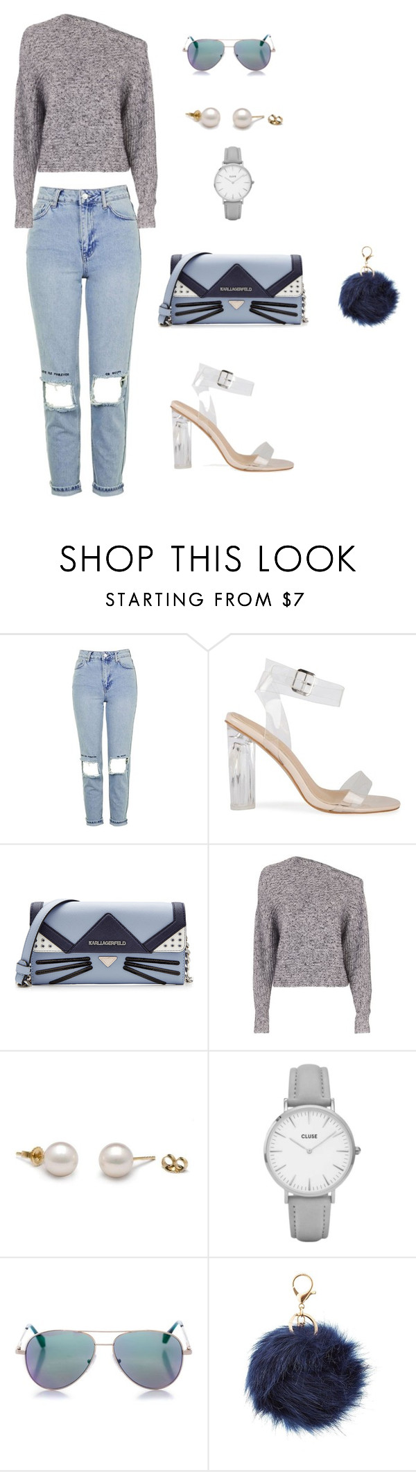 """""""young and chic"""" by kduffy-1 on Polyvore featuring Topshop, Karl Lagerfeld, T By Alexander Wang, Cutler and Gross and Charlotte Russe"""