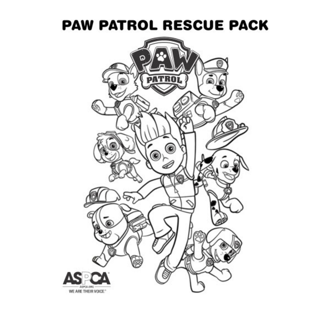 PAW Patrol Coloring Page Rescue Pack | Coloring | Pinterest | Paw patrol