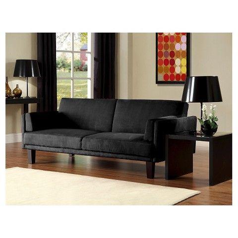 Metro Futon Sofa Bed Black