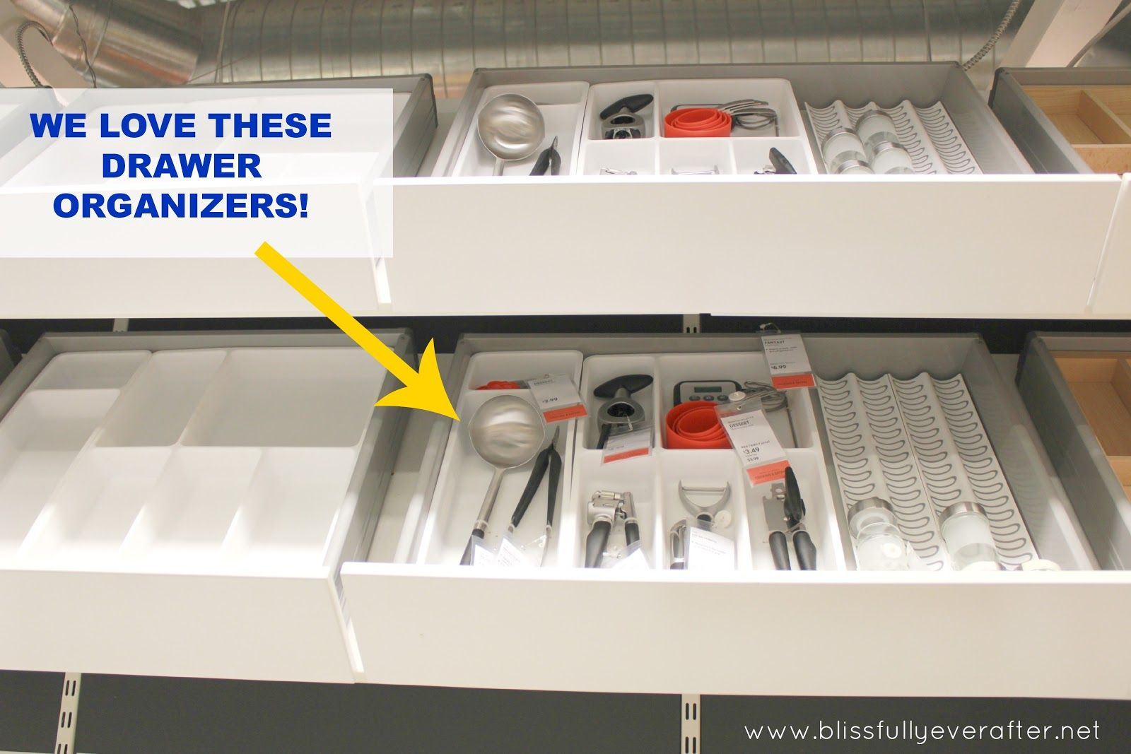 kitchen drawer organizer ikea shelf liner organizers pinterest