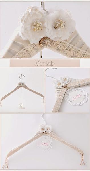 DIY: Haz tu propia percha para el vestido de novia | Perchas ...