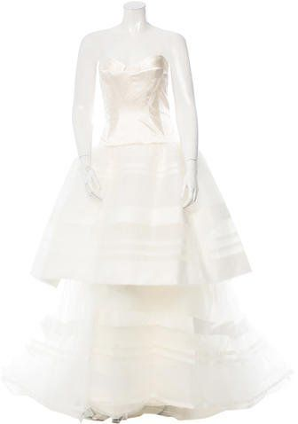 Click here to shop the  Carolina Herrera Strapless Stevens Bridal Gown w/ Tags ON SALE!!