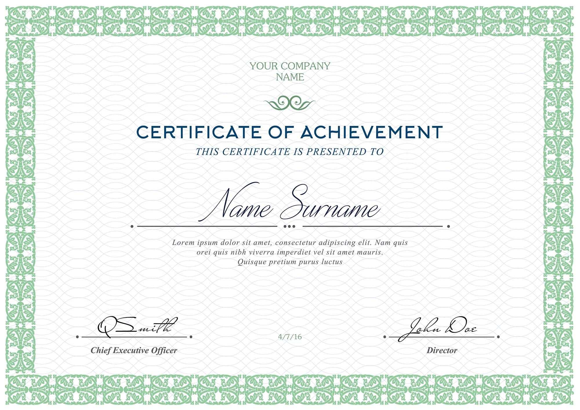 Free Certificates Templates (Psd) with Update Certificates ...