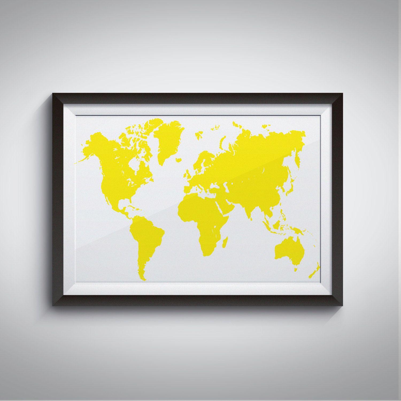 Childrens wall art, Geography, Decorative wall art, Map wall art ...