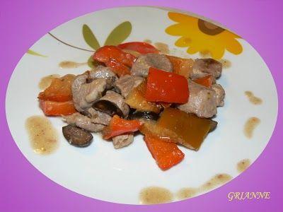 Bocconcini di agnello con peperoni e olive