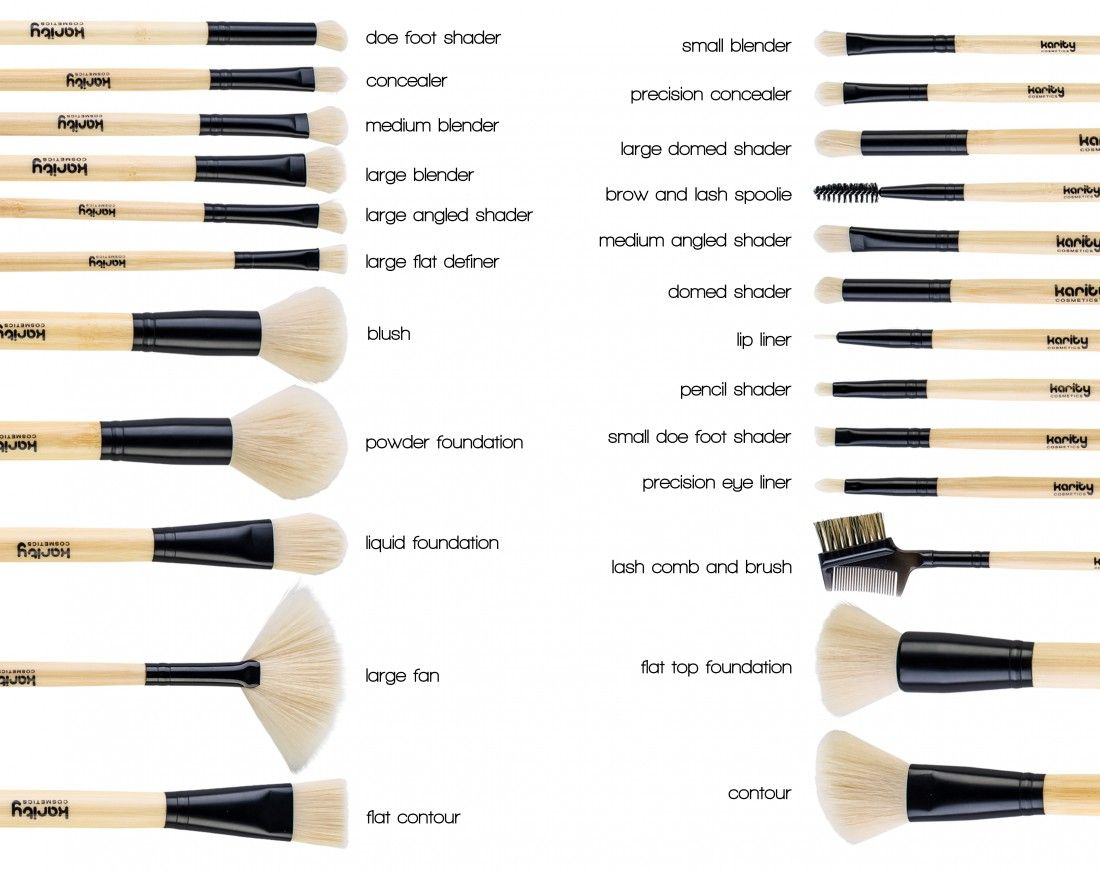 Eco Chic 24Piece Bamboo Makeup Brush Set