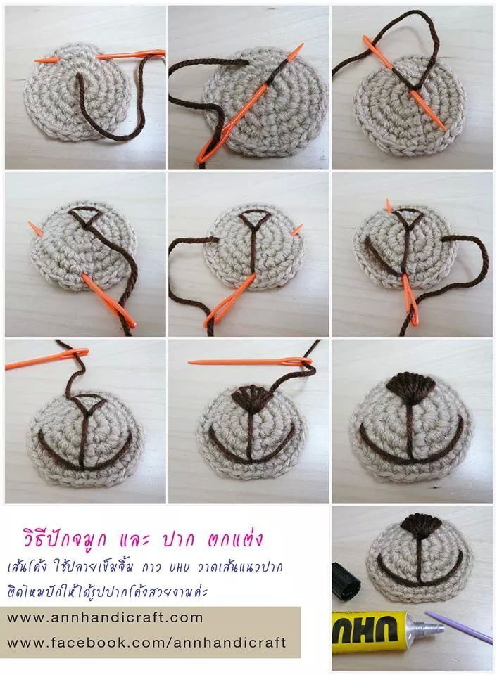 Nariz de oso paso a paso | crochet | Pinterest | Nariz, Osos y ...