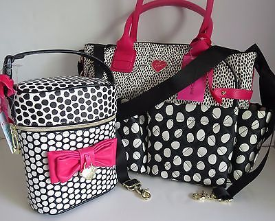Betsey Johnson Downtown Diamond Diaper Tote Ins Bottle Holder 4 Pc Bundle Nwt In Clothing Shoes Accessories Women S Handbags Bags Purses