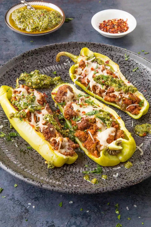 Turkey Stuffed Cubanelle Peppers Recipe Chili Pepper Madness In 2020 Stuffed Peppers Cubanelle Pepper Stuffed Cubanelle Pepper Recipe