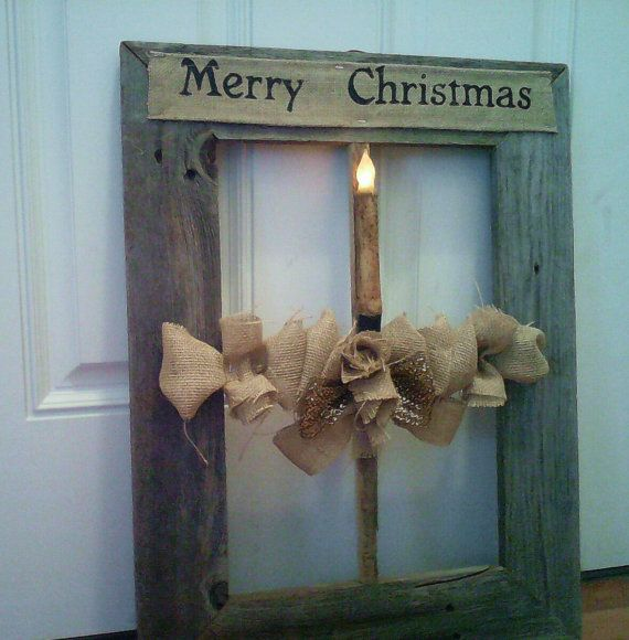 Wedding Ladder Decorations: Beautiful Lighted Candle Holiday Barnwood By