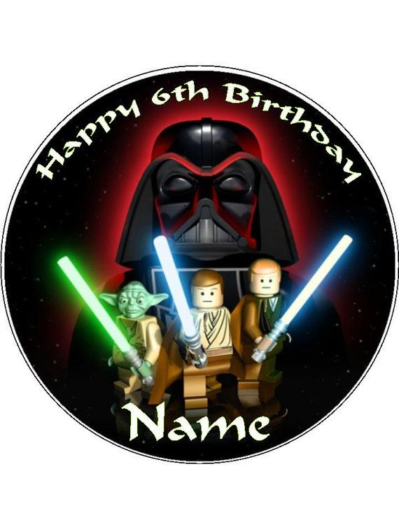 Lego Star Wars Edible Cake Topper 8 Inch Round By Tammystoppers
