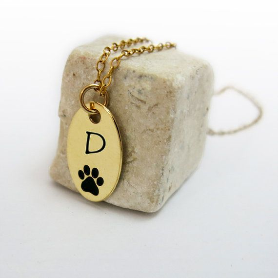 Personalized Dog Paw Necklace, Initial Necklace, Pet Jewelry, Gift for Dog Lovers, Foot Print Necklace. on Etsy, 154.62 ₪