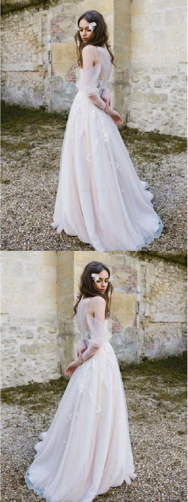 03d54fa9ec8b4 Wedding Dresses, Long Sleeves Wedding Dress #WeddingDresses  #LongSleevesWeddingDress Wedding Dresses 2018