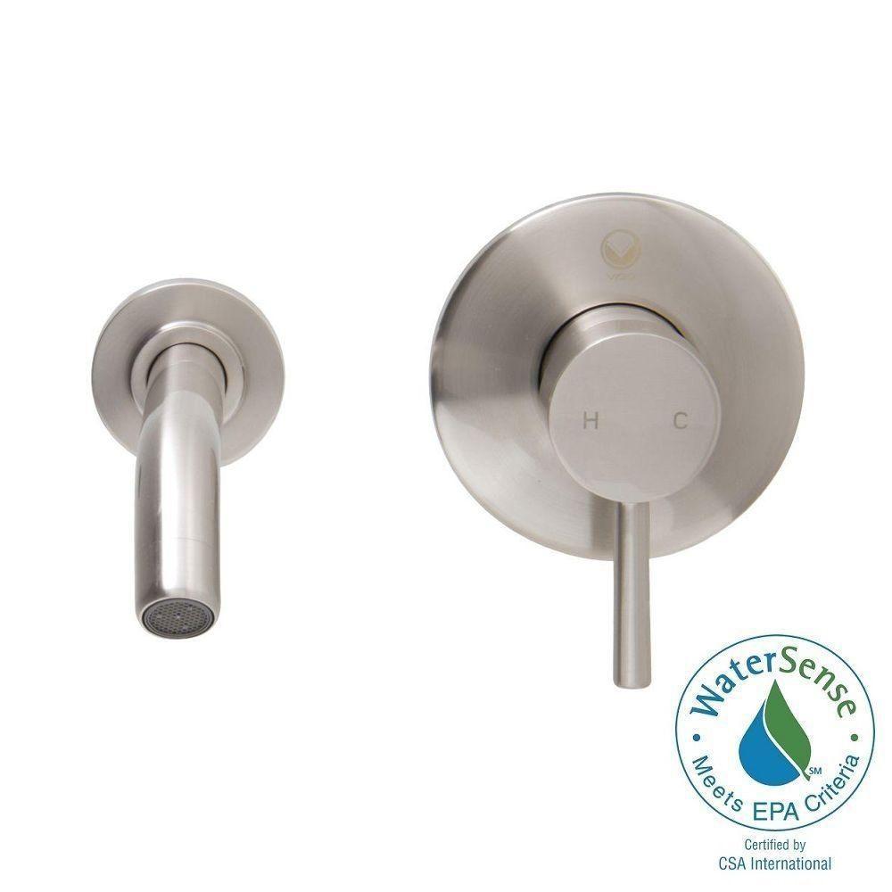 Vigo Single Hole Single-Handle Wall-Mount Vessel Bathroom Faucet in ...