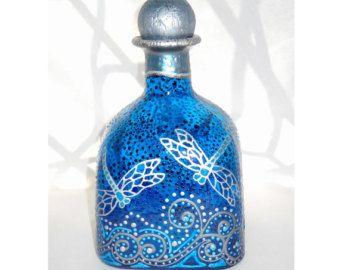 Enrollado de decantador botella boda set vasos de chupito for Vasos chupito personalizados