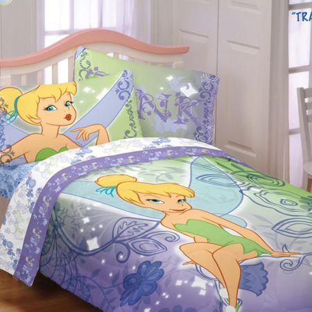 Disney Bedding, Tinkerbell Tink Watercolor Comforter Sets - Kids ...