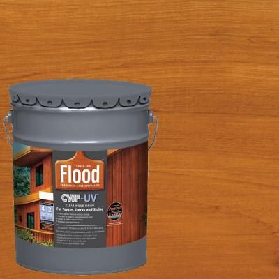 Flood 5 Gal Cedar Tone Cwf Uv Exterior Wood Finish Fld520 05 Wood Deck Stain Exterior Stain Exterior Wood Stain
