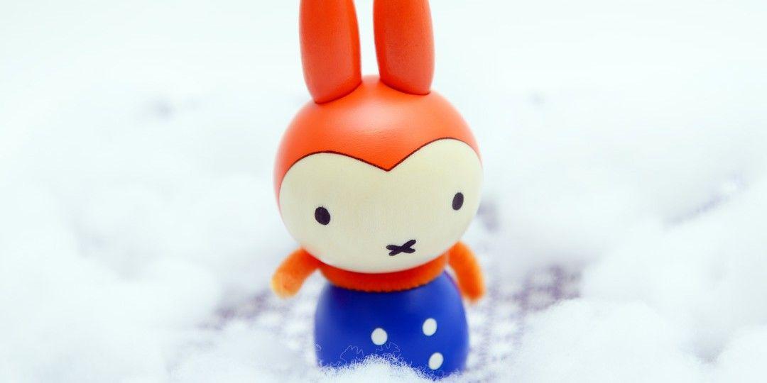 ミッフィー こけし 雪の日