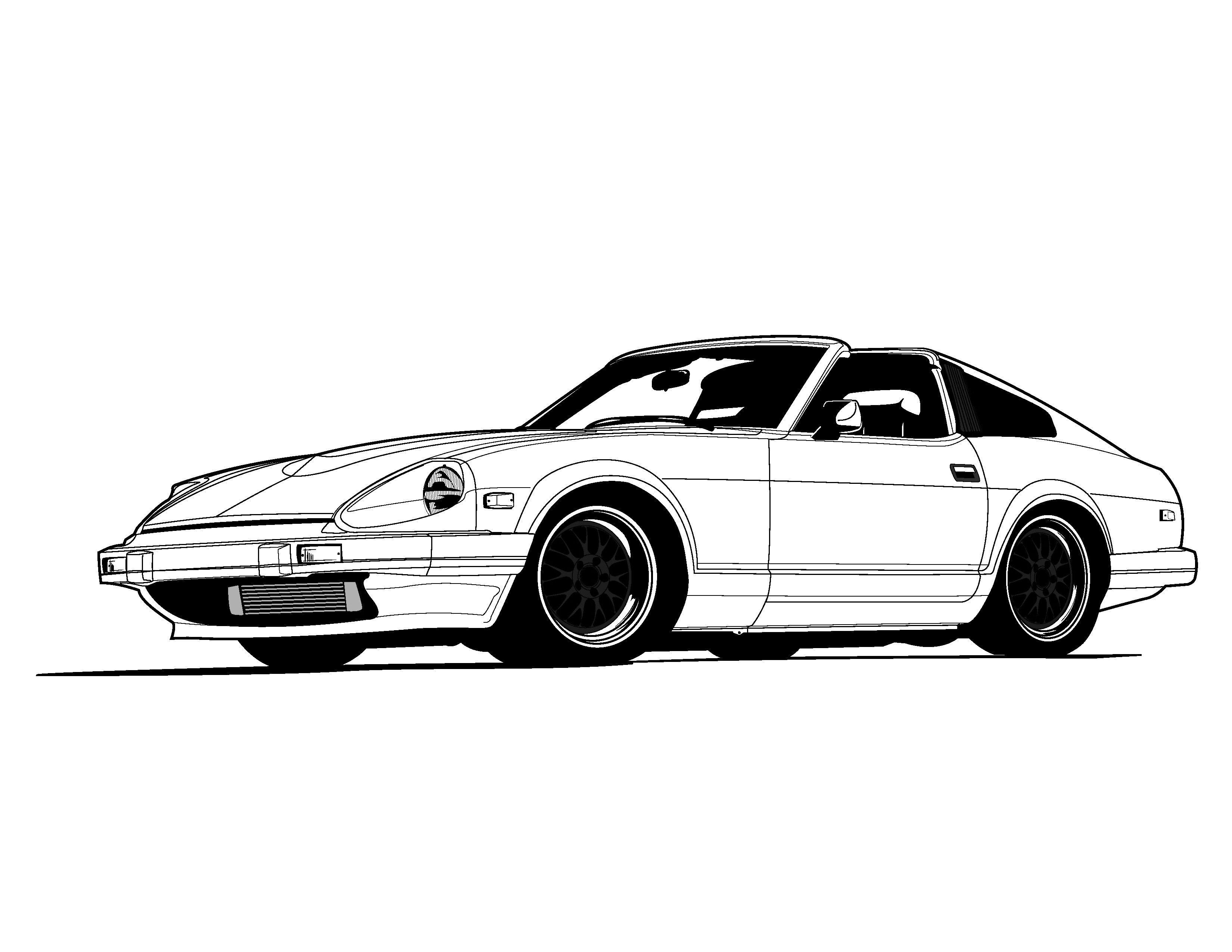 Car vector hd wallpaper android nissan z datsun 240z japan cars