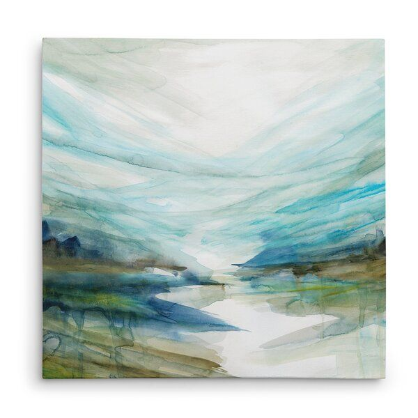 Soft River Reflection Acrylic Painting Print On Gallery Wrapped Canvas Gallery Wrap Canvas Painting Painting Prints