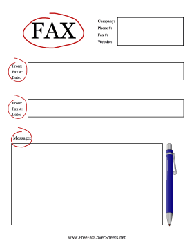 fax cover sheets to print