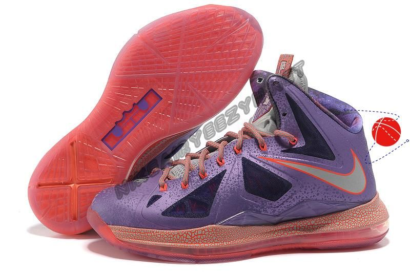 new product 94472 8fa86 Authentic Laser Purple Strata Grey - Total Crimson All Star 583108-500 Nike  Lebron 10 Holiday Promotions