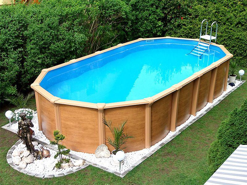 Schwimmbecken Garten für einen harmonisch ländlichen flair: ein großer swimmingpool im