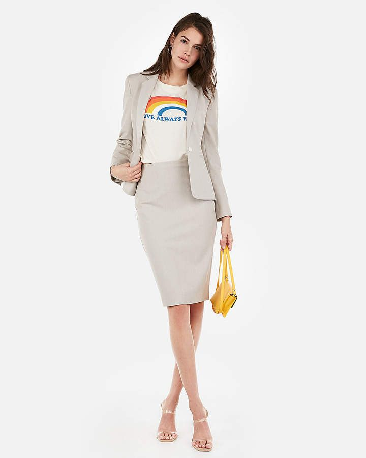 e25bb88b8 Express High Waisted Clean Front Textured Pencil Skirt in 2019 ...